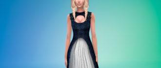 Платье в фентезийном стиле для Симс 4 – фото 1