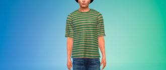 Простая футболка большого размера для Симс 4 – фото 1