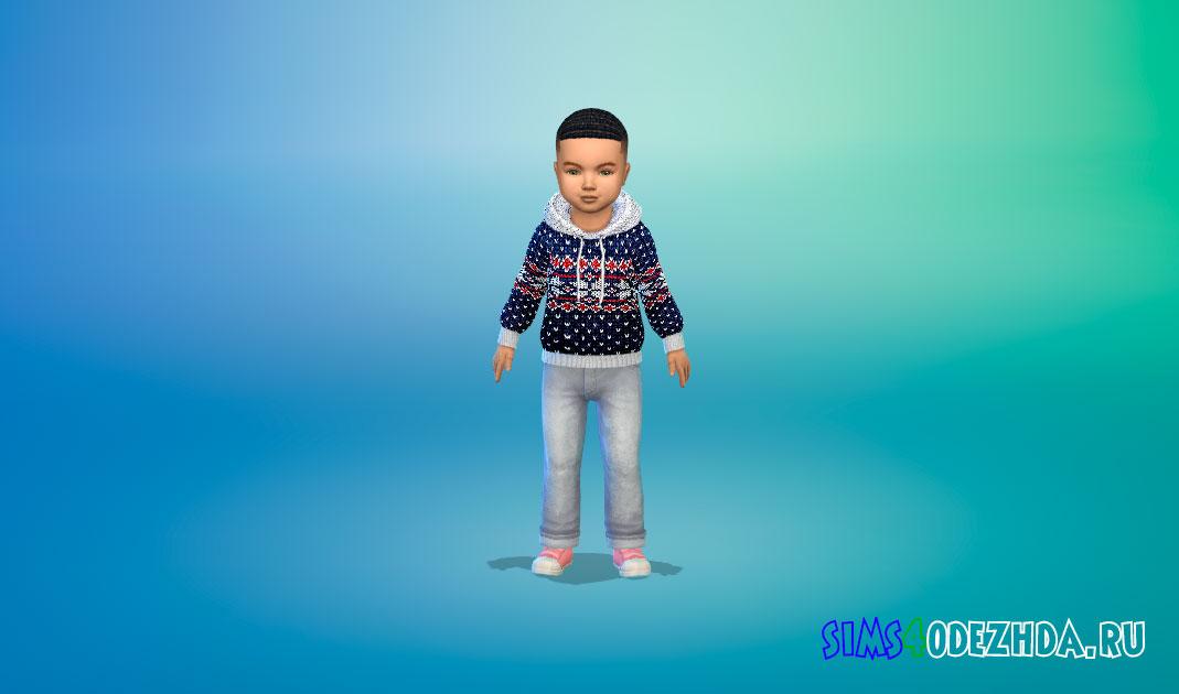 Шерстяные зимние свитера для малышей для Симс 4 – фото 1