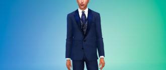 Шикарный мужской костюм для Симс 4 – фото 1