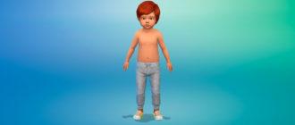 Спортивные штаны для малышей для Симс 4 – фото 1