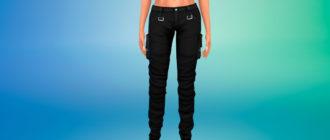 Стильные брюки в стиле Industrial для Симс 4 – фото 1
