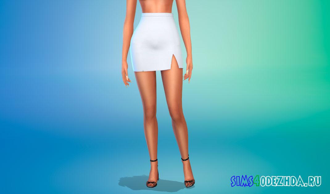 Супер милая юбка с завышенной талией для Симс 4 – фото 1