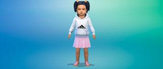 Толстовка Adidas для малышей для Симс 4 – фото 1