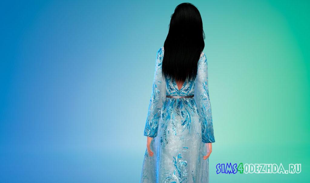 Декорированное платье для Симс 4 – фото 3