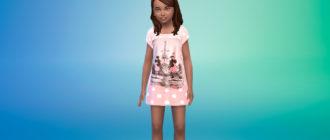 Детское летнее платье для Симс 4 – фото 1