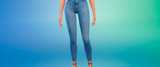 Джинсы Levis Mile High Super Skinny для Симс 4 – фото 1