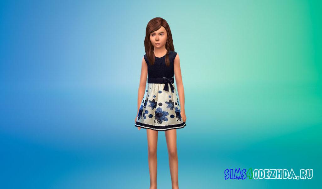 Коллекция детских дизайнерских платьев для Симс 4 – фото 1