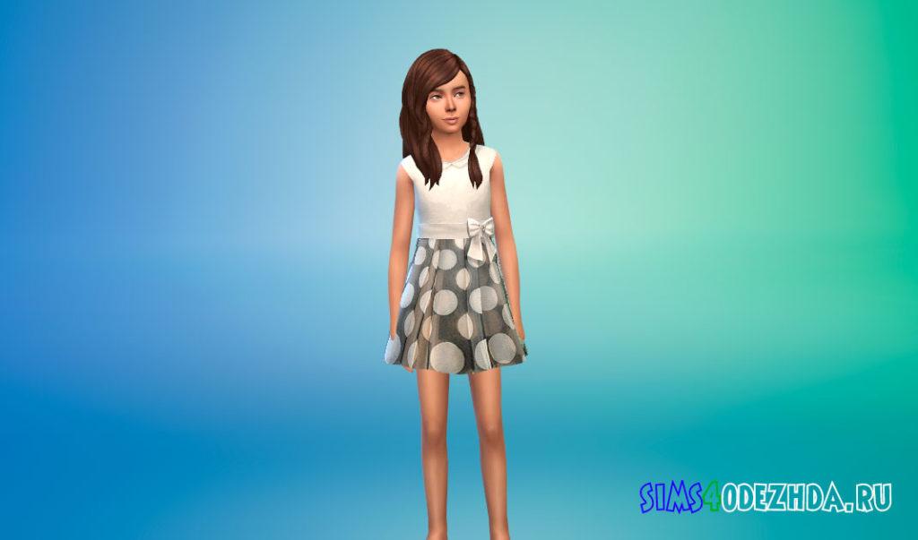 Коллекция детских дизайнерских платьев для Симс 4 – фото 2