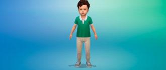 Летние джинсы для малышей для Симс 4 – фото 1