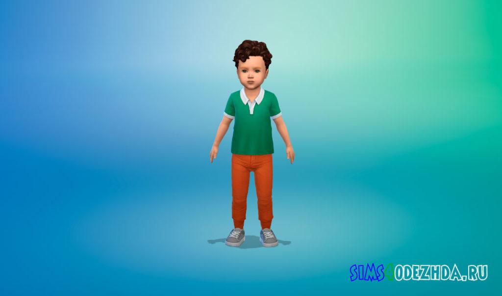 Летние джинсы для малышей для Симс 4 – фото 2