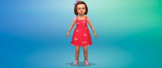 Милое платье для малышей для Симс 4 – фото 1