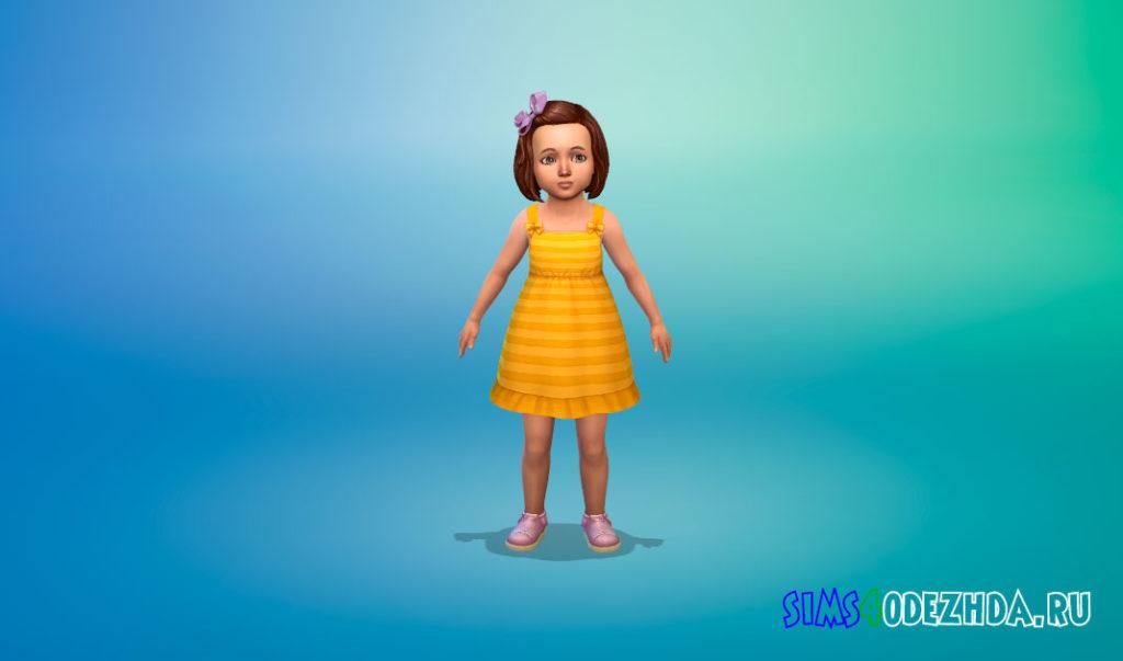 Милое платье для малышей для Симс 4 – фото 3