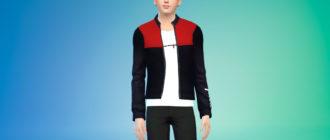 Мужская спортивная куртка для Симс 4 – фото 1