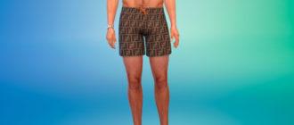 Мужские стильные шорты для Симс 4 – фото 1