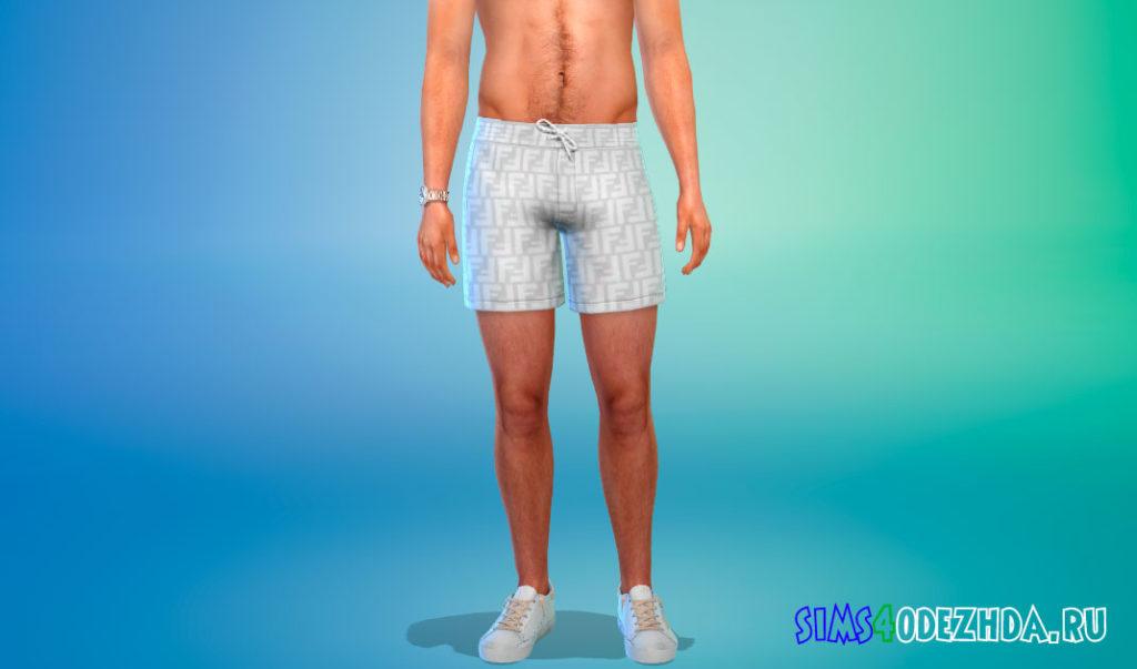 Мужские стильные шорты для Симс 4 – фото 2