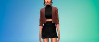 Платье с курткой для Симс 4 – фото 1