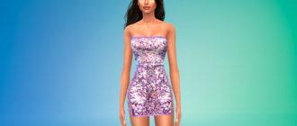 Платье с пайетками для Симс 4 – фото 1