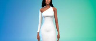 Сексуальное длинное платье для Симс 4 – фото 1