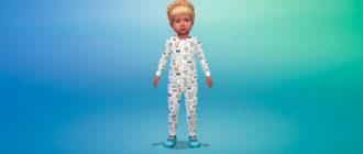 Симпатичное боди для малышей для Симс 4 – фото 1