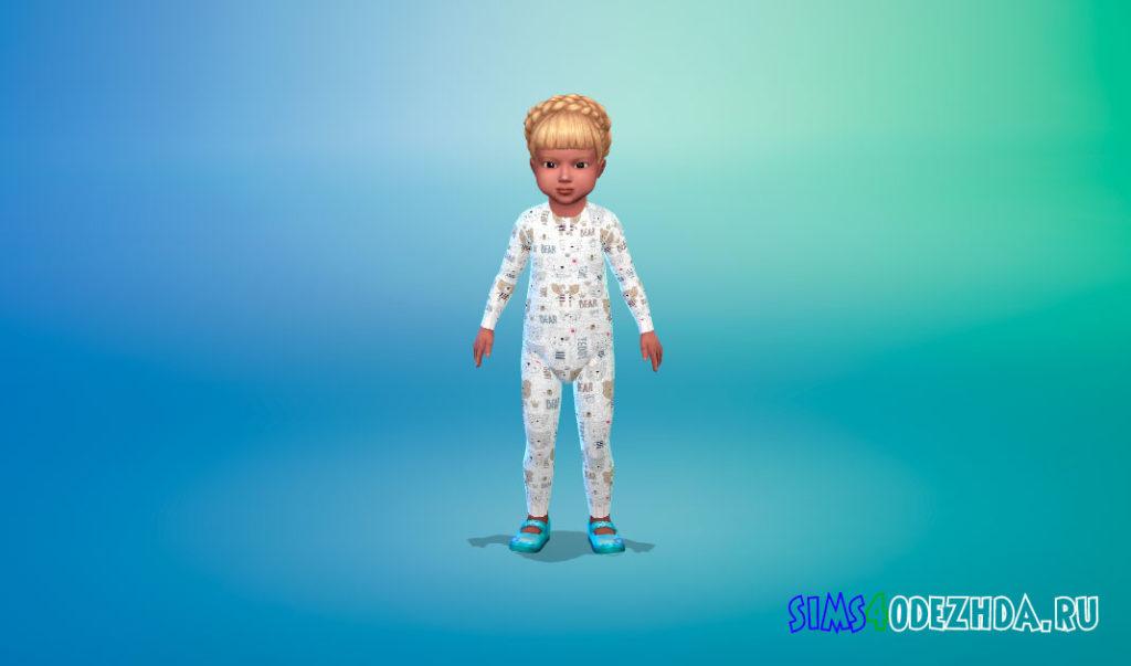 Симпатичное боди для малышей для Симс 4 – фото 2