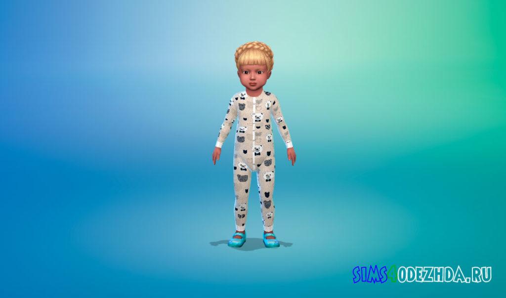Симпатичное боди для малышей для Симс 4 – фото 3