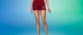 Спортивные шорты Nike для Симс 4 – фото 1