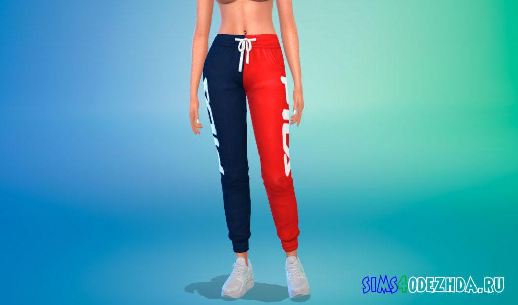 Спортивные штаны Fila для Симс 4 – фото 1