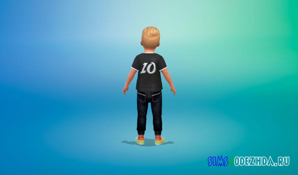 Стильные джинсы для малышей для Симс 4 – фото 3