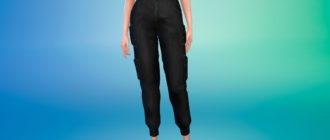 Стильные женские брюки карго для Симс 4 – фото 1