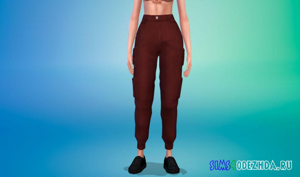 Стильные женские брюки карго для Симс 4 – фото 2