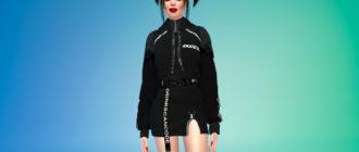 Толстовка-платье в стиле K-Trend для Симс 4 – фото 1