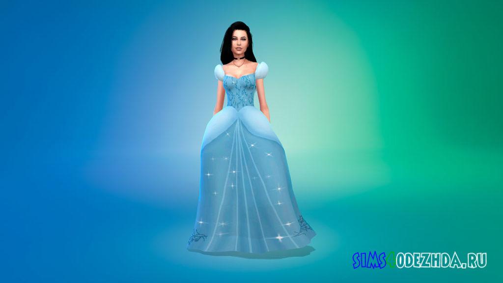 Бальное платье Золушки для Симс 4 – фото 1