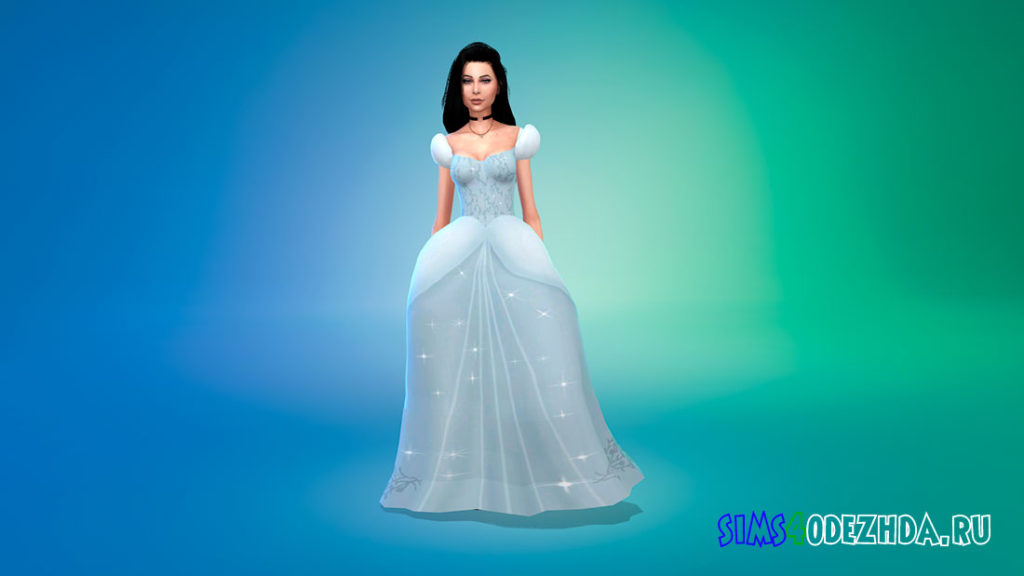 Бальное платье Золушки для Симс 4 – фото 2