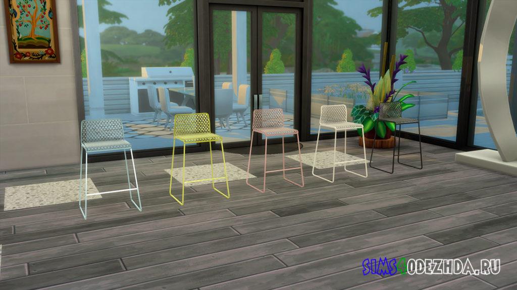 Барный стул со спинкой для Симс 4 – фото