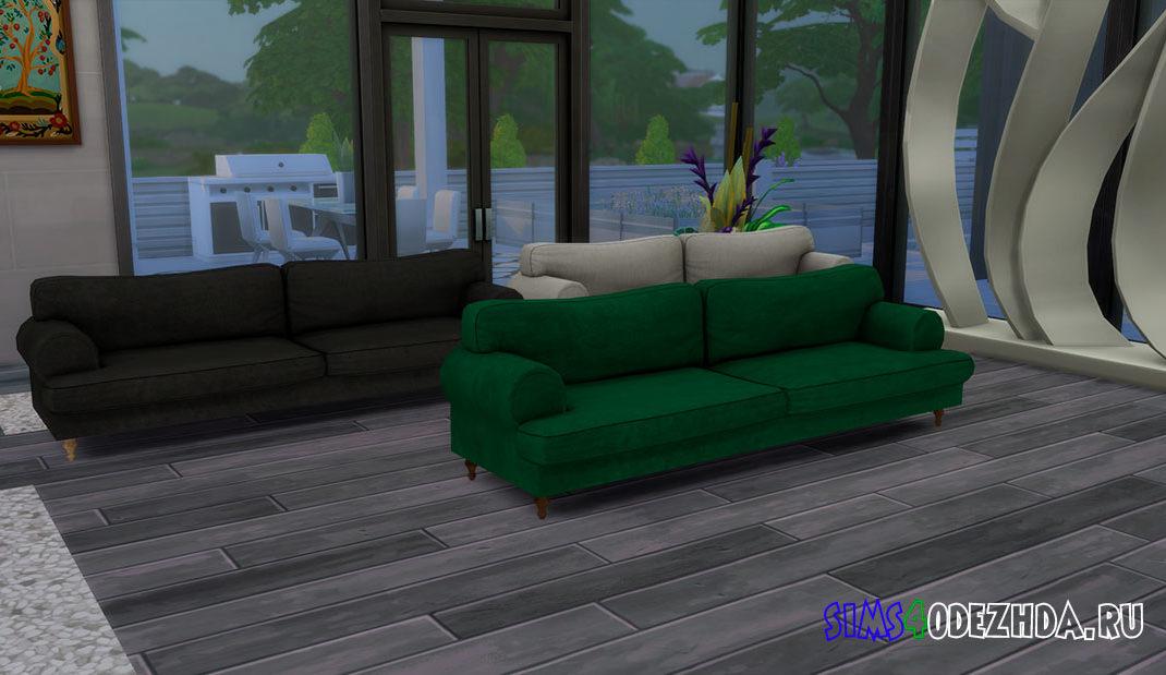 Большой красивый диван для Симс 4 – фото