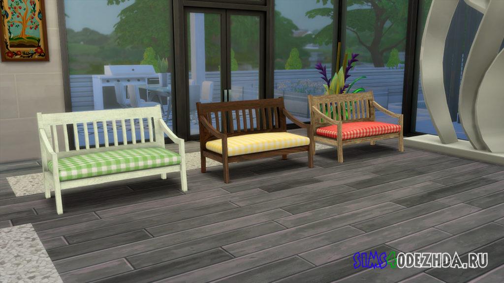 Деревянный диван для Симс 4 – фото