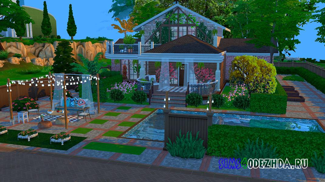 Дом в стиле бохо с модами для Симс 4 – фото