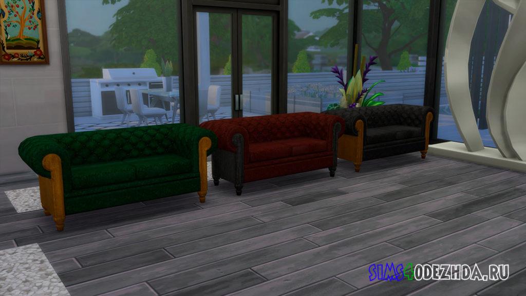 Двухместный диван для Симс 4 – фото