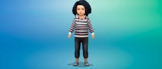 Худи для девочек малышей для Симс 4 – фото 1