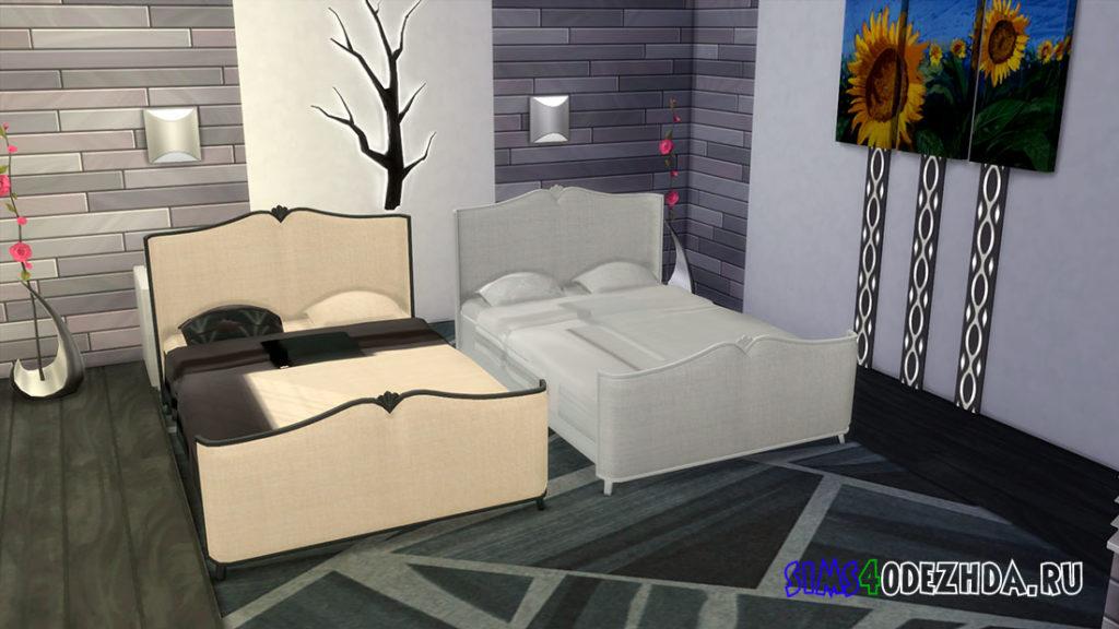 Элегантная кровать для Симс 4 – фото