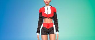 Комплект женской спортивной одежды для Симс 4 – фото 1