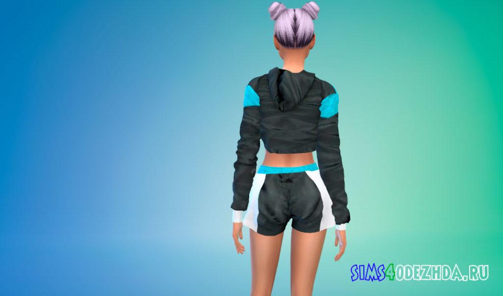 Комплект женской спортивной одежды для Симс 4 – фото 3