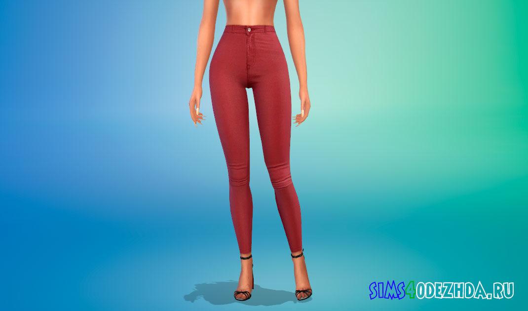 Кожаные брюки для девушек для Симс 4 – фото 1