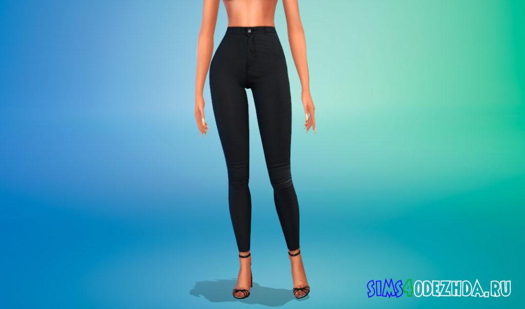 Кожаные брюки для девушек для Симс 4 – фото 2