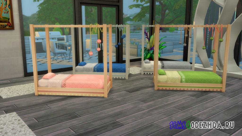 Красивая кровать для малышей для Симс 4 – фото