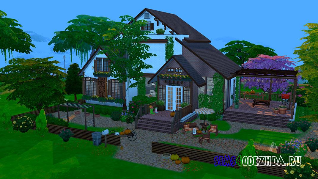 Красивый загородный дом для Симс 4 – фото