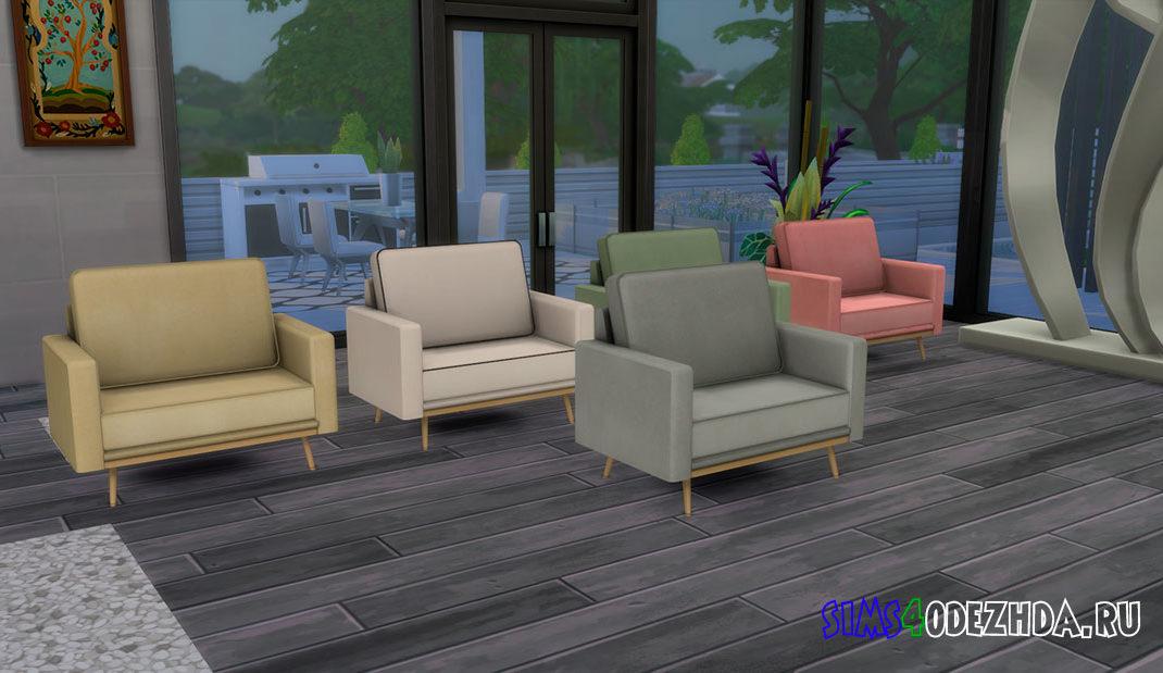 Кресло для отдыха в скандинавском стиле для Симс 4 – фото