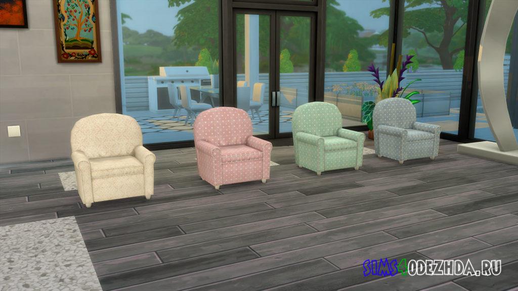Кресло из мягкой ткани для Симс 4 – фото