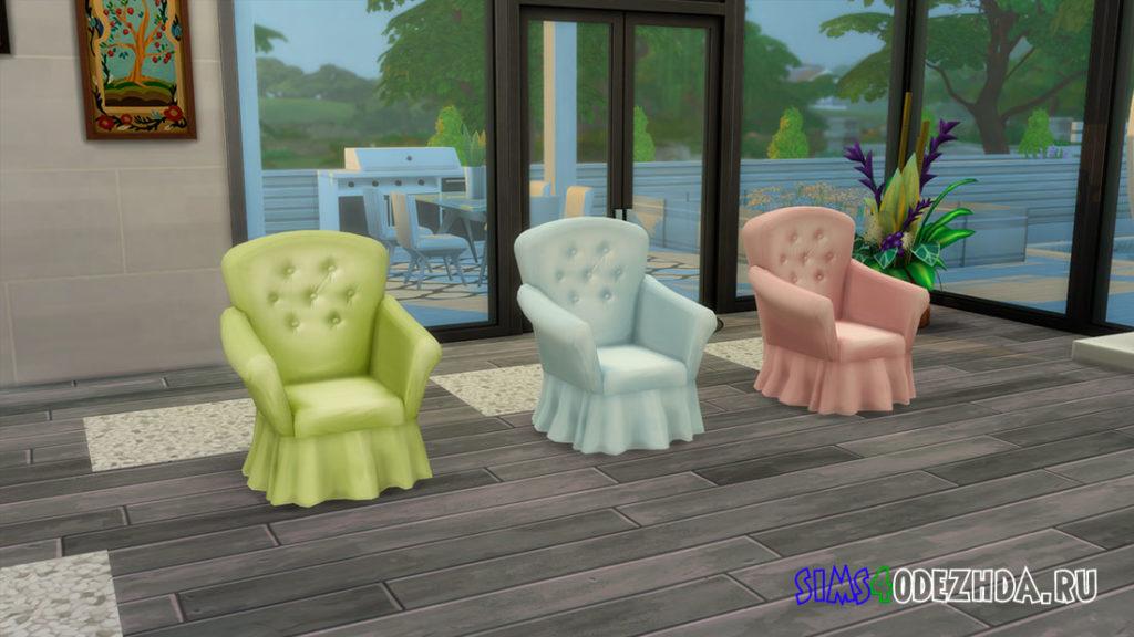 Кресло в ярких тонах для Симс 4 – фото